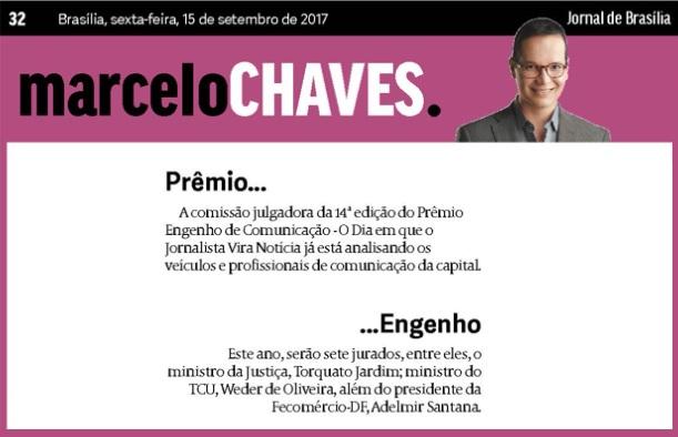 15.09.2017 - MARCELO CHAVES - JORNAL DE BRASILIA